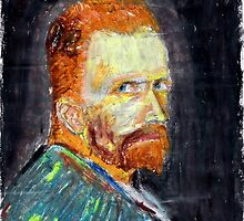 Van Gogh Self-Portrait (Summer 1887) by mukudjmask