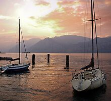 Malcesine Sunset by brianhardy247