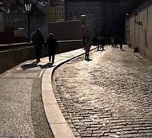 Cobbled Street near Prague Castle by SerenaB