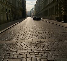 Cobbled Street, Prague by SerenaB