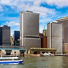 Take The Ferry to Manhattan - East River Waterfront by Mark Tisdale