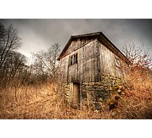 Barn in the brush Photographic Print
