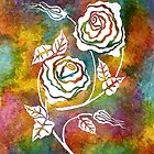 White Roses - A statement piece by Lisa Frances Judd ~ QuirkyHappyArt