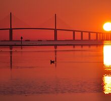 Skyway Bridge at Sunrise, As Is by Kim McClain Gregal