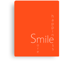 Happiness - Smile More Canvas Print