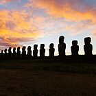 Ahu Tongariki moais Pano - Easter Island by jorginho