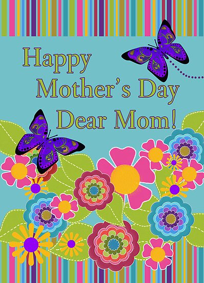 Happy Mother's Day Dear Mom, Paisley Butterflies by Cherie Balowski