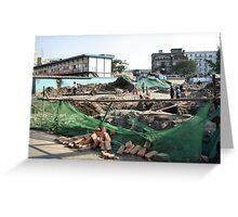 Beijing 2006 - Demolition along Meishi Street Greeting Card