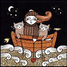 Kerrys Seafaring Kitties by Anita Inverarity