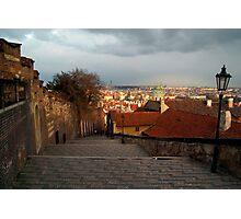 The Steps to Prague Castle Photographic Print