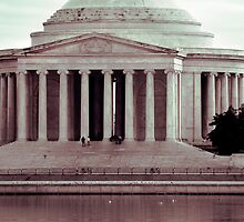 Jefferson Reflections, Washington, D.C. by strangelight