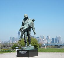 """Liberation"", Monument to World War 2 Concentration Camp Survivors, Lower Manhattan in Backround, Liberty State Park, New Jersey by lenspiro"