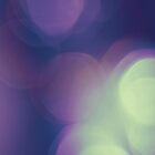 Purple Bokeh Abstract by Andrea Hurley