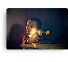 Hungry Boy III Canvas Print