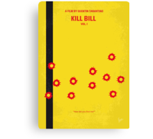 No048 My Kill Bill - part 1 minimal movie poster Canvas Print