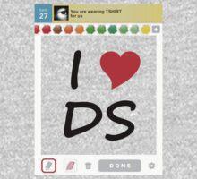 I Heart DS (Light Tshirt) Kids Clothes