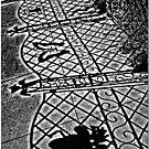 Sidewalk Shadows by Chet  King