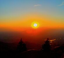 sunset in San Marino by braccobalda