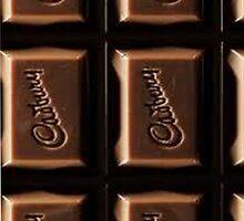 Cadbury's chocolate Iphone case by LittleMermaid87