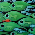 Green Fish School by Georgie Greene