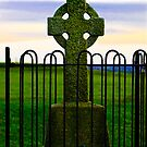 High Cross at the Hill of Tara by Rebecca Dru