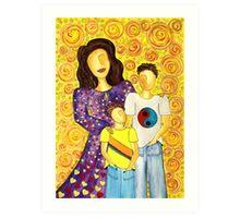 Mother's Pride ~ beautiful boys Art Print