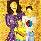 Mother's Pride ~ beautiful boys by Lisa Frances Judd ~ Original Australian Art