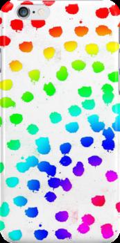 Rainbow Glitter and Paint by AHakir