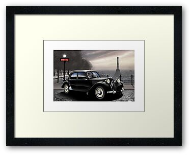 Citroen Traction Avant Poster Illustration by Autographics