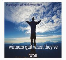 Winners Dont Quit Kids Clothes