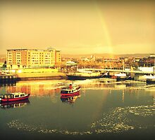 River Lagan Rainbow, Belfast by Chris Millar