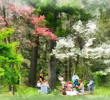 Picnic Under the Flowering Trees by Susan Savad