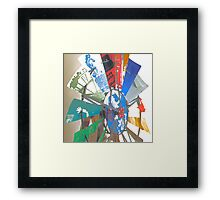 Rauschenberg Reflections (Eco-Echo IV) Framed Print