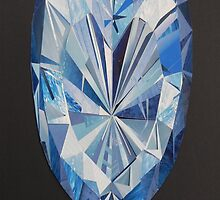 Blue diamond I phone 4 by Margherita Bientinesi