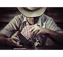 Poker Face Photographic Print