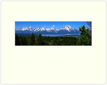 Grand Tetons Over Jackson Lake by Brian Harig