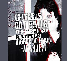 Joan Jett iPhone Case by jabberjaytattoo