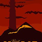 Mordor vintage travel poster by Nana Leonti