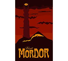 Mordor vintage travel poster Photographic Print