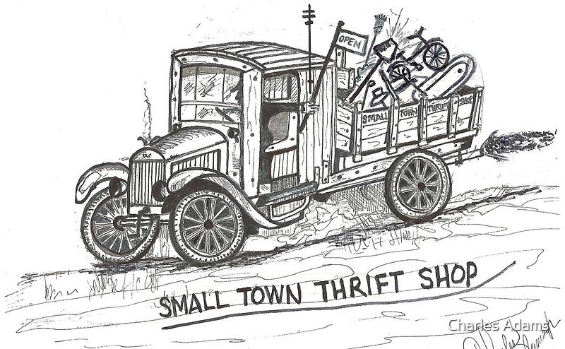 MEMORIES OF 1928 White Truck by charlesadams