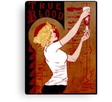 True Blood Nouveau red Canvas Print
