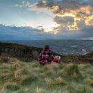 Looking over Keighley.. by Michael Upshon