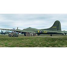B-17 Bomber Crew Photographic Print