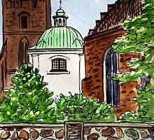Poland,  Warsaw - Virgin Mary Church by Irina Sztukowski