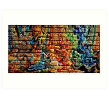 If you build your walls too high to reach, just paint them with love and color Art Print