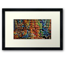 If you build your walls too high to reach, just paint them with love and color Framed Print