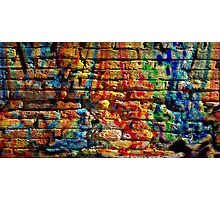 If you build your walls too high to reach, just paint them with love and color Photographic Print