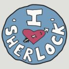 I heart Sherlock button by melanie1313