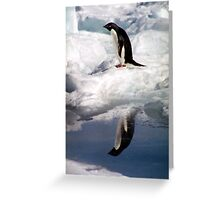 Adelie Penguin in a Reflective Mood Greeting Card