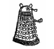 Dalek Sketch Photographic Print